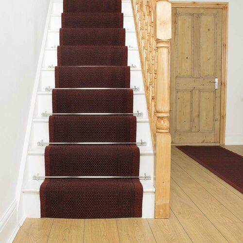 Photo of Ophelia & Co. Abbingt Nadelstich Red Stair Runner | Wayfair.co.uk