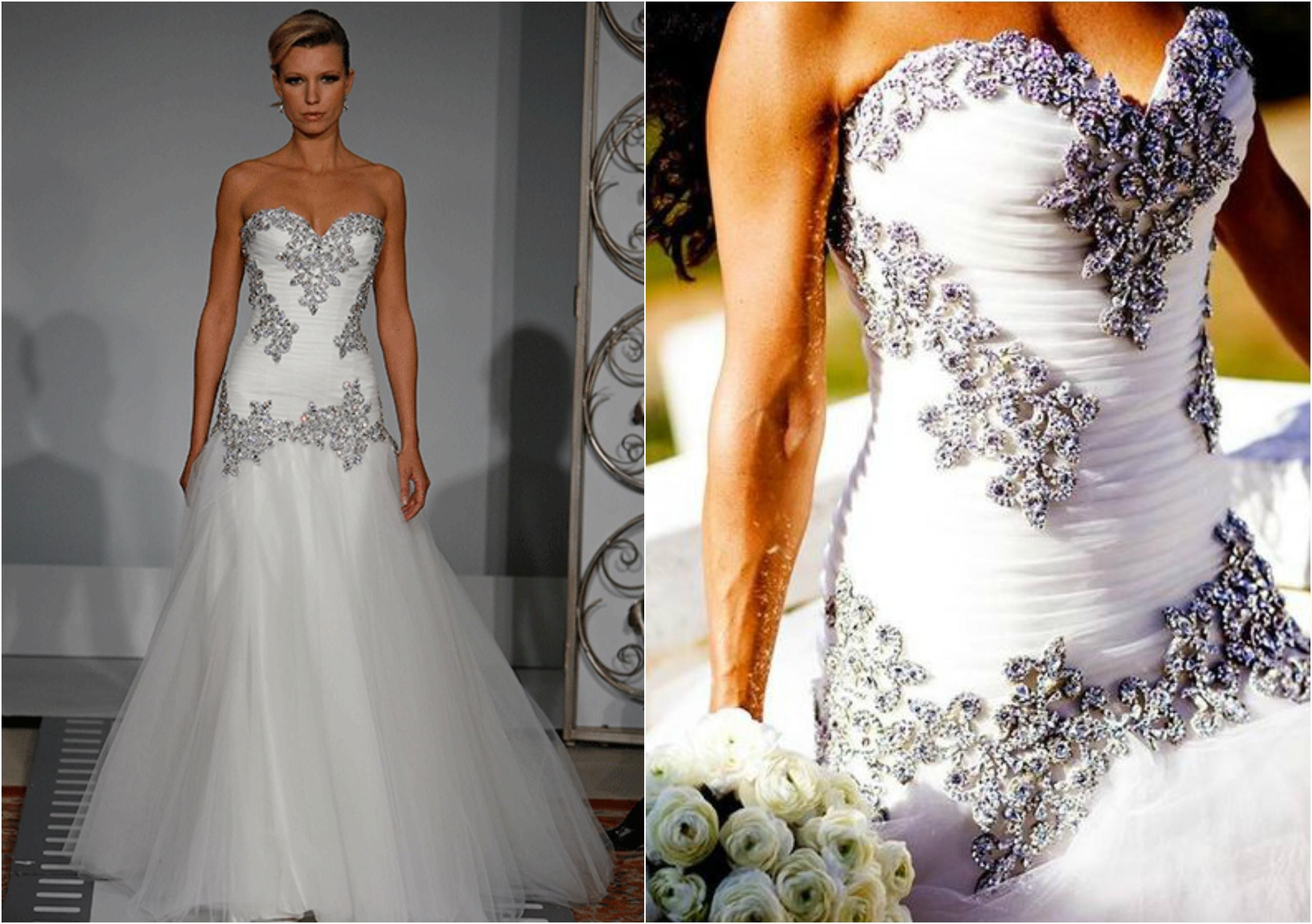Wedding dresses with lots of rhinestones  Pin by Joey Barragan on CRYSTALPearls stones sparkly shiny