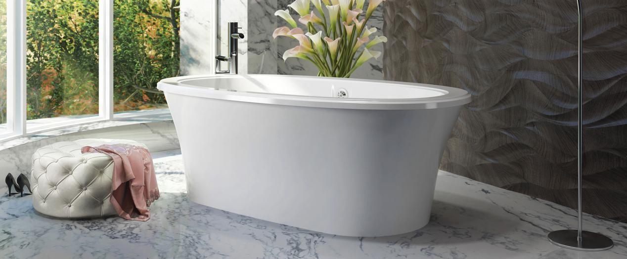 Bainultra Sanos 6636 freestanding air jet bathtub for your master ...