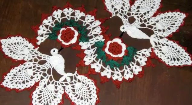 Free Crochet Christmas Doily Patterns Knitting And Crochet