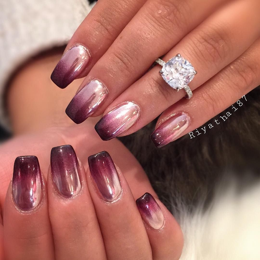 ombr chrome nail design nails