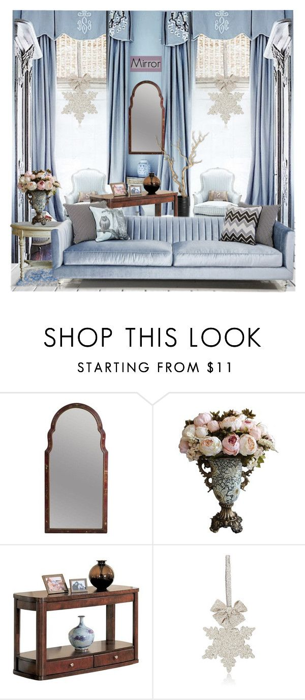 """""""Mirror"""" by nicolevalents ❤ liked on Polyvore featuring interior, interiors, interior design, home, home decor, interior decorating, Friedman, Coaster and Sherri's Designs"""