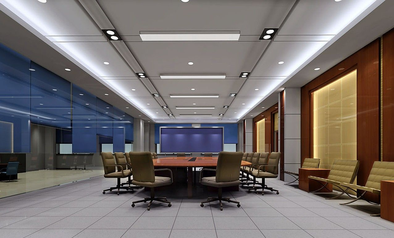 Conference Room Ceilings And Walls Design 3d Office