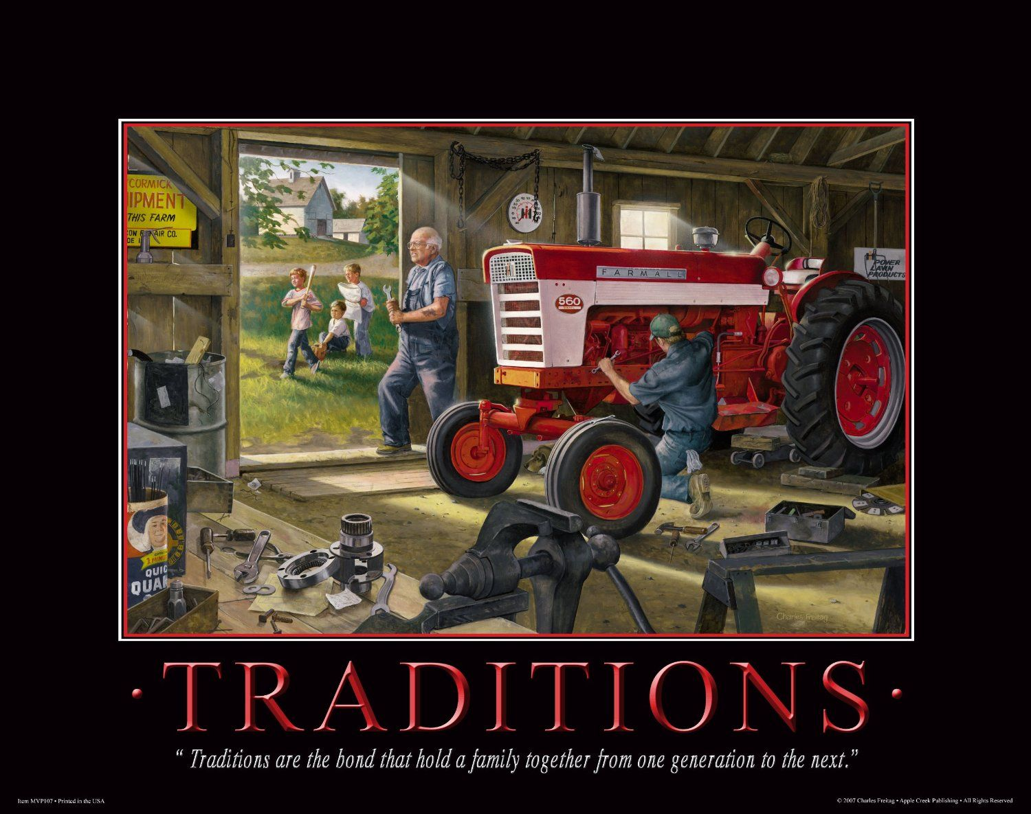 Farmall case ih tractor motivational poster for International harvester wall decor