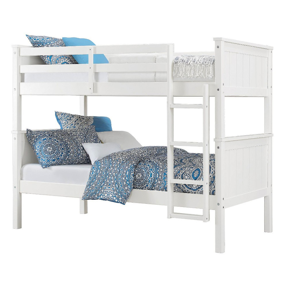 Maxton Twin Over Twin Bunk Bed White Dorel Living White Bunk