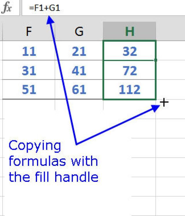 Copy Formulas and Data with Excel\u0027s Fill Handle Numbers - spreadsheet formulas