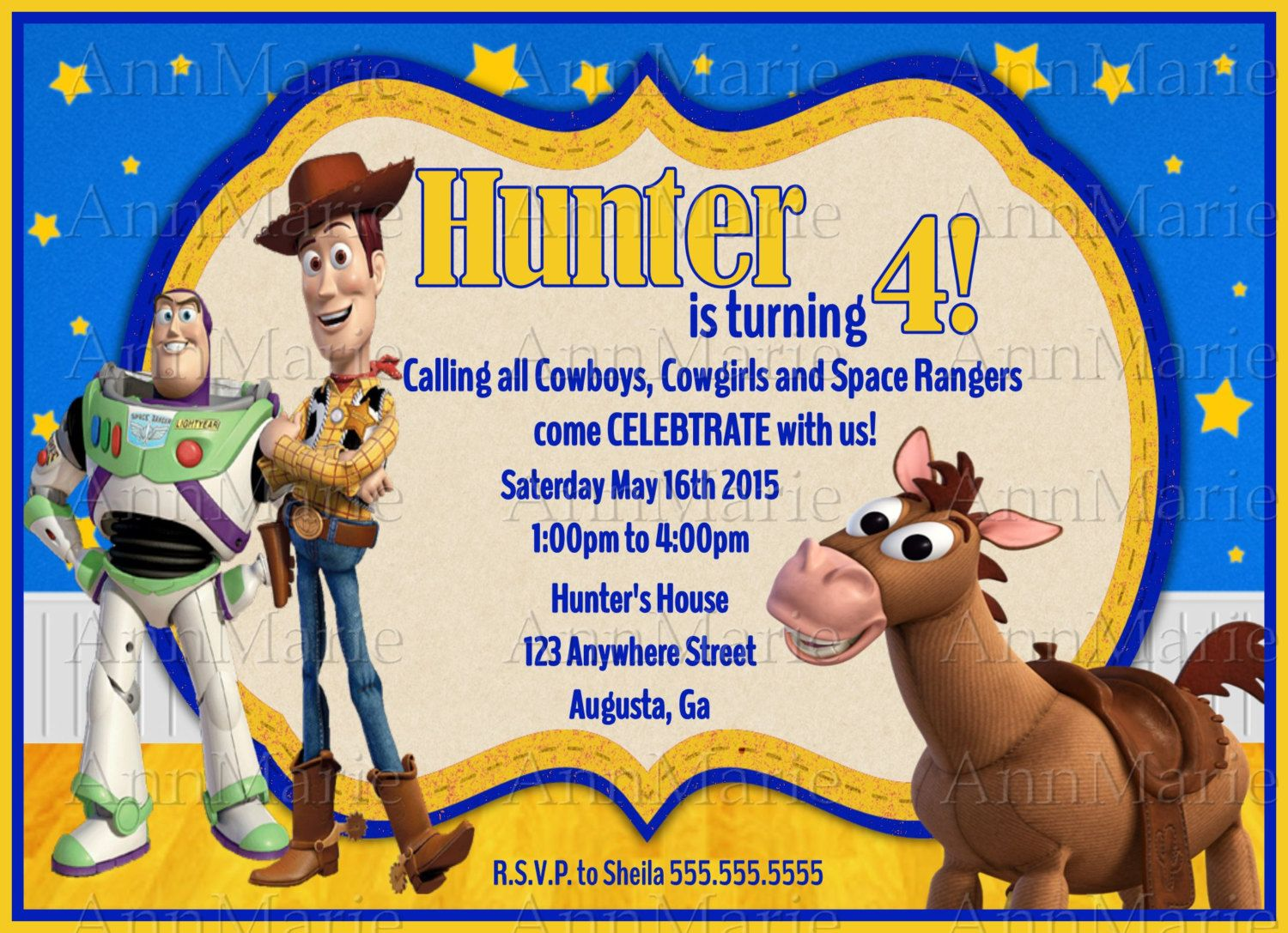 Toy Story Inspired Birthday Party Invitation choose from two ...