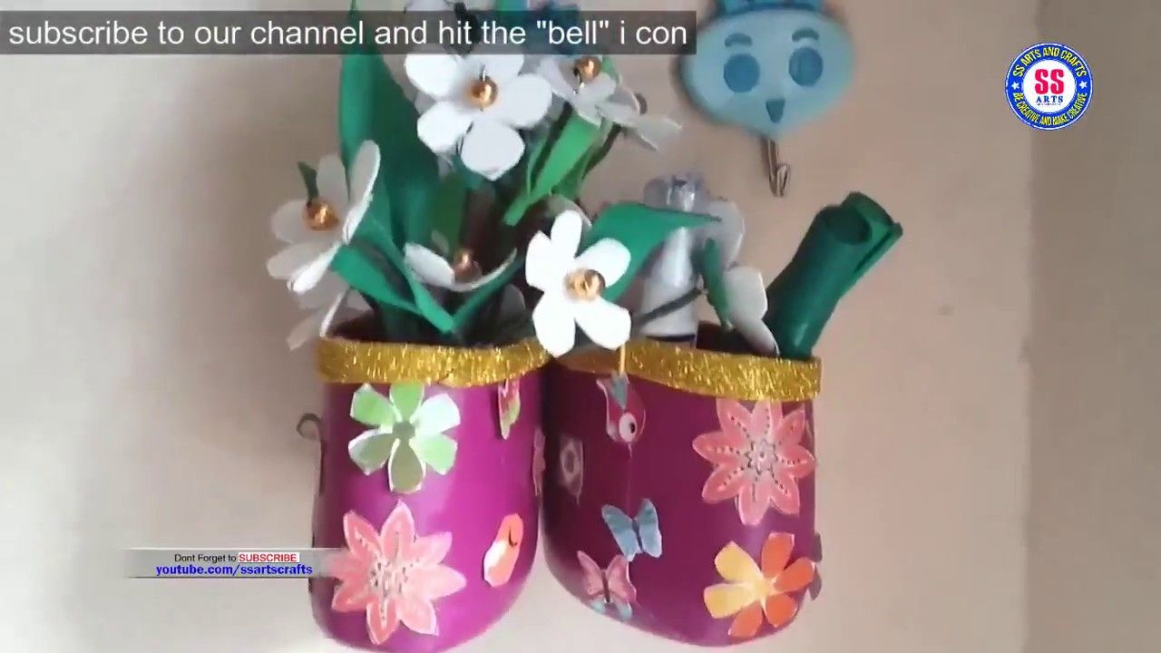 Diy Best Out Of Waste How To Use Empty Surf Excel Bottle Recycled Crafts Bottle Crafts Crafts Recycled Crafts