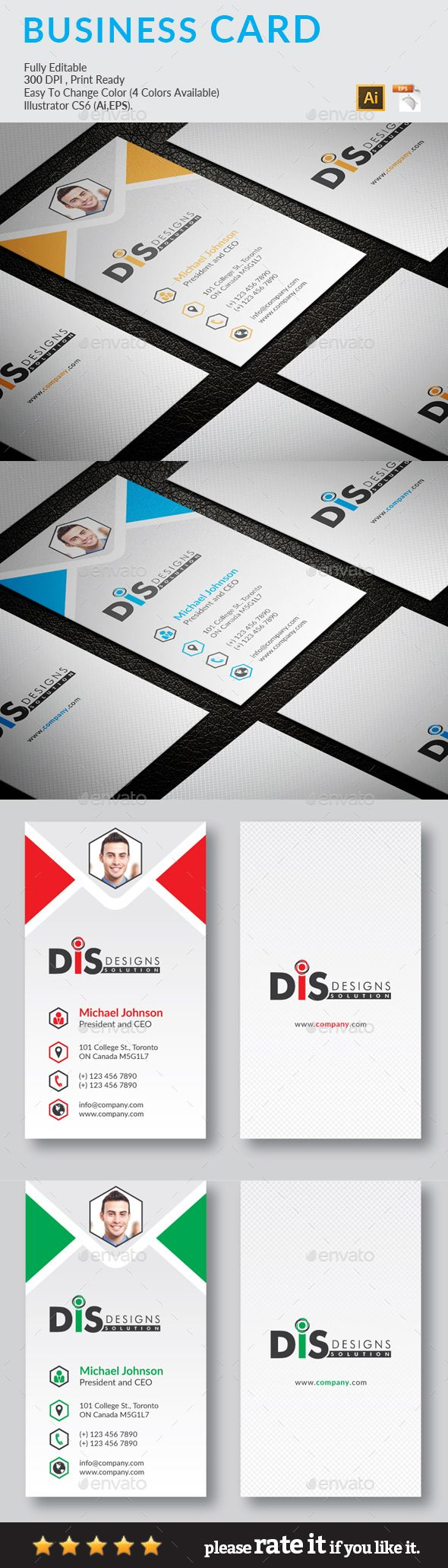Business Card Business Cards Card Templates And Ai Illustrator - Buy business card template