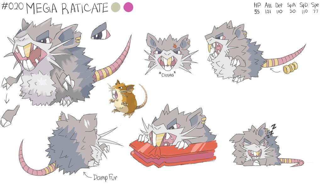 16++ Raticate evolution information