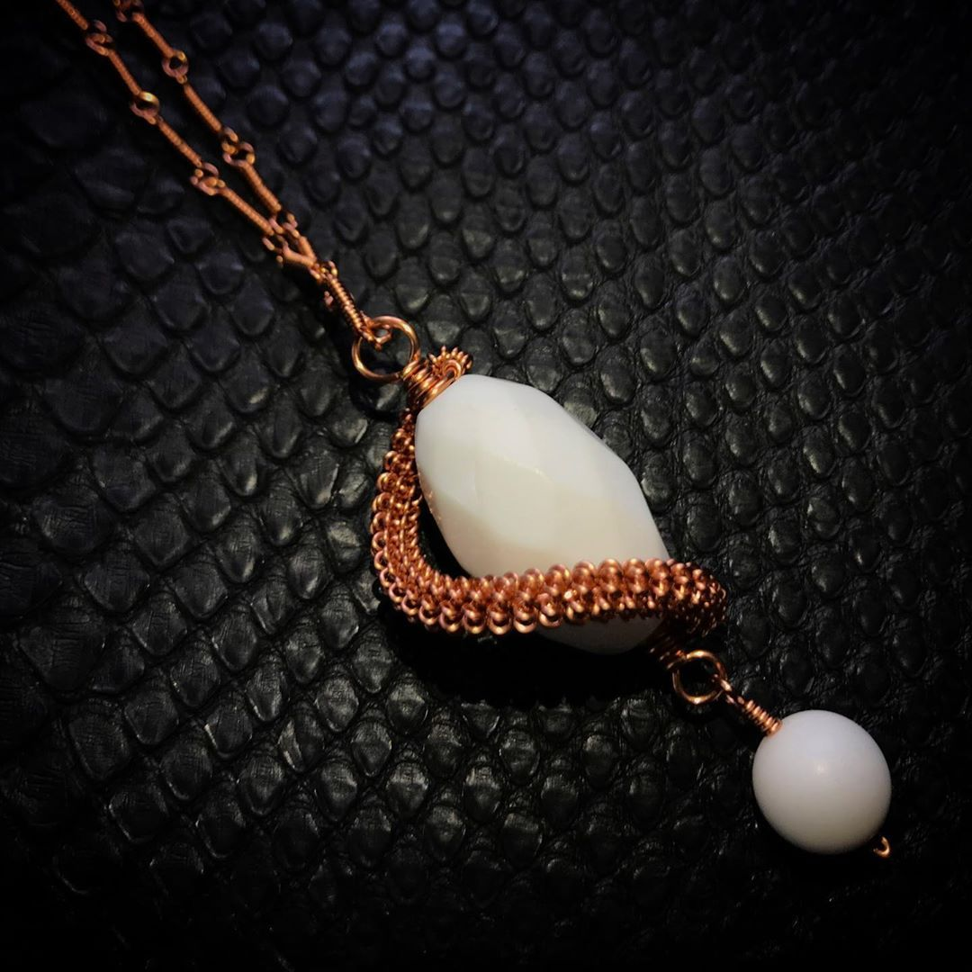 WHITE OPAL STONE NECKLACE WHITE OPAL STONE NECKLACE That kind of art that can be dressed up or down depending on your mood purely with passion  LIKE us on facebook for mo...