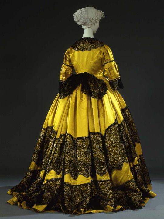 Reception dress ca. 1865  From the Galleria del Costume di Palazzo Pitti via Europeana Fashion