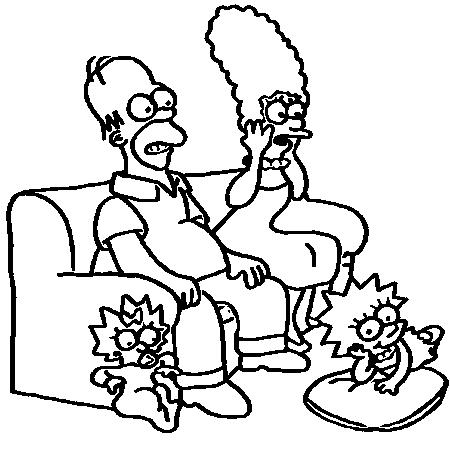 Dessin simpson a colorier mandala pinterest dessin - Bart simpson coloriage ...
