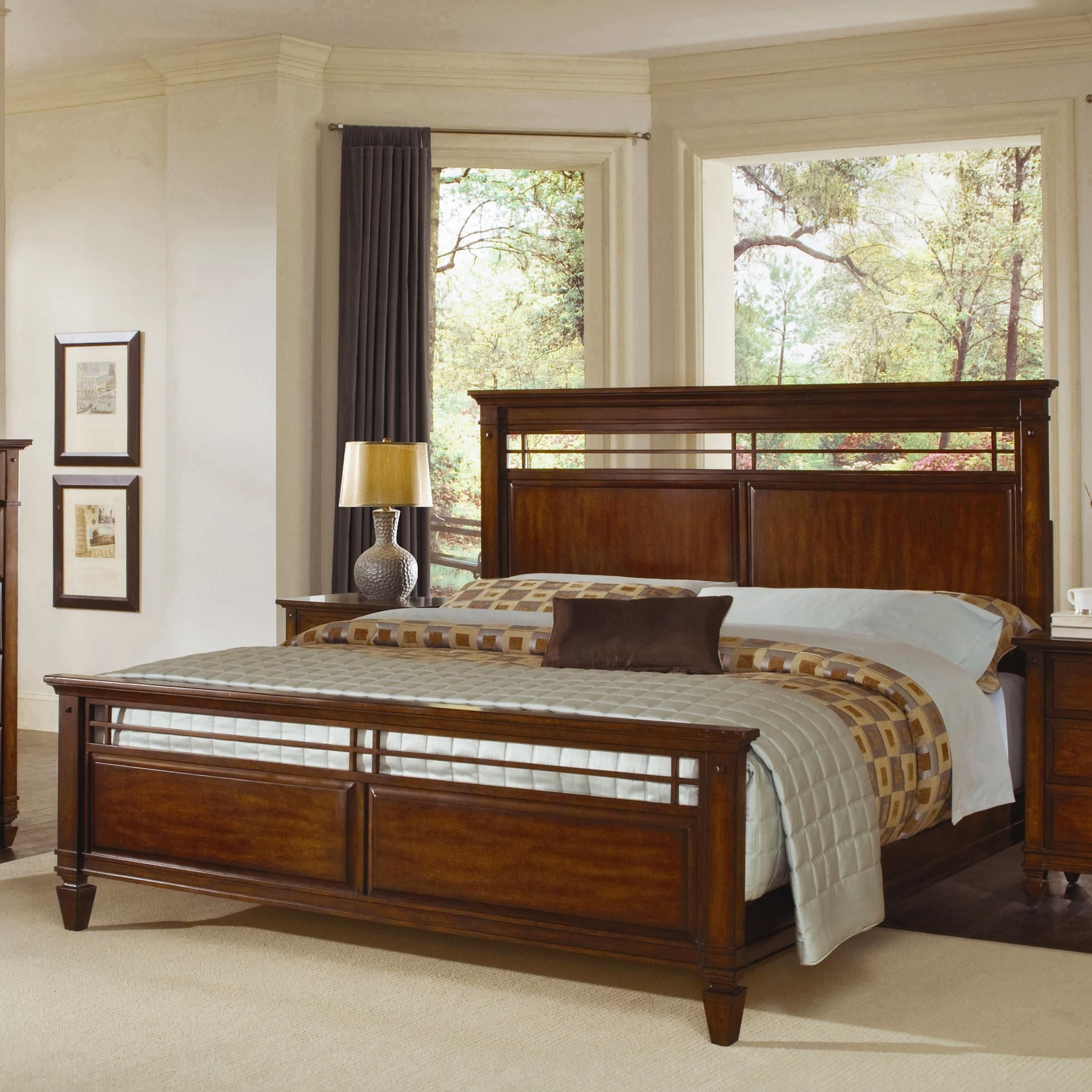 Wynwood Randolph Park California King Panel Bed in Smoky