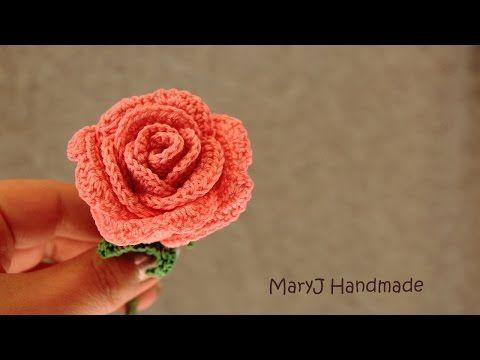 How To Crochet- Layered ROSE Flower Tutorial - YouTube | bloemen ...