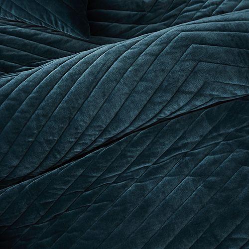 Jardin Quilted Velvet Quilt Cover: Rebecca Judd Loves Jardin Quilted Velvet Quilt Cover Teal