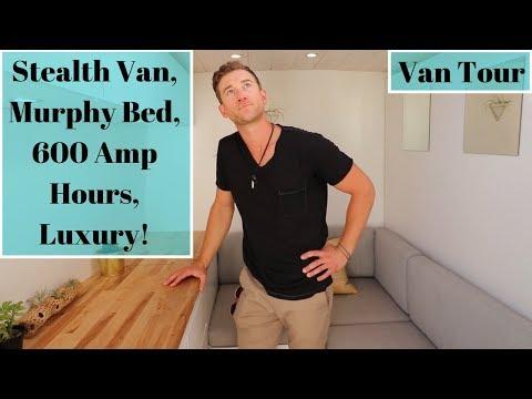 Best 13 Vanlife Tour Serious Stealth Luxury Van Murphy Bed 640 x 480