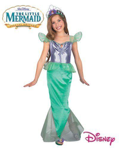 Dress Up Child Halloween Costume  Med 7-8 Disney Ariel Princess Little Mermaid