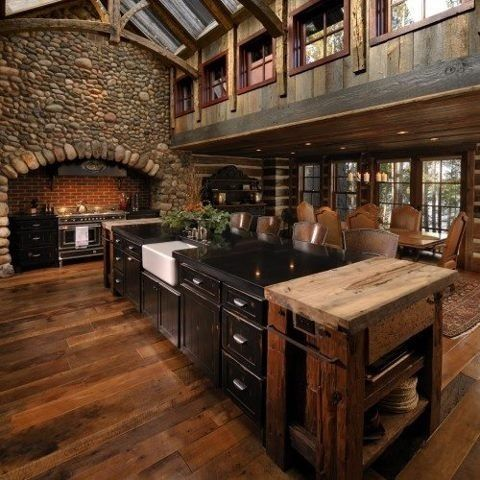 Gorgeous log cabin interior