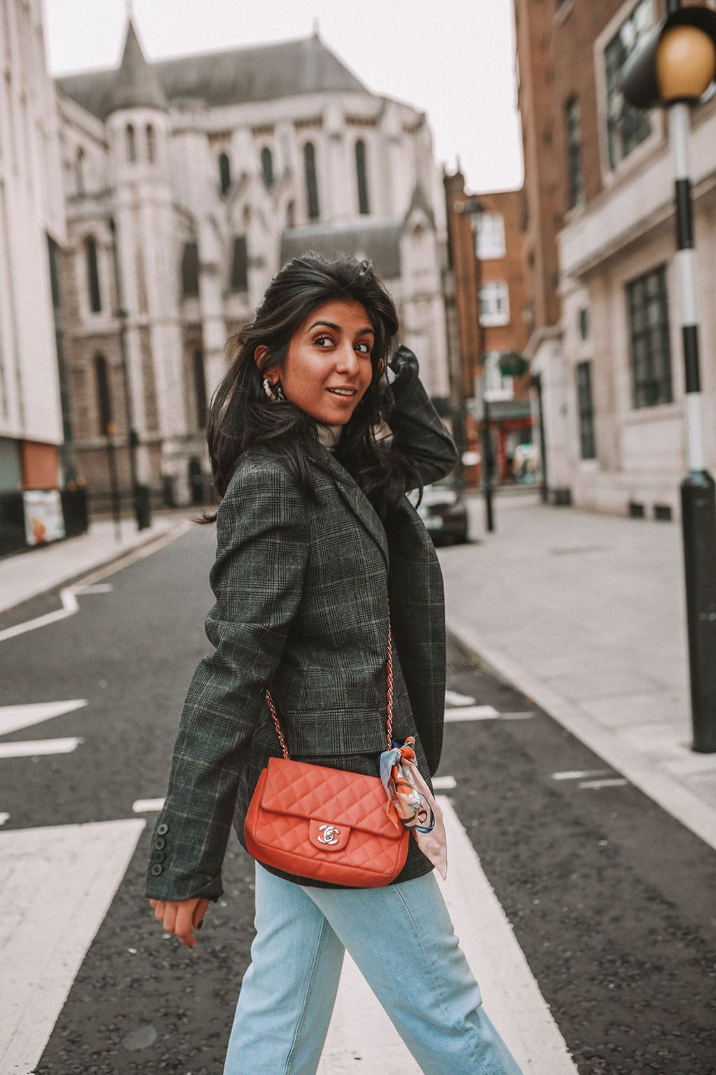 6d85f6c996ef36 Luxury fashion blogger Shloka Narang of The Silk Sneaker shares three tips  to elevate a simple winter outfit to make it more stylish featuring Chanel,  ...