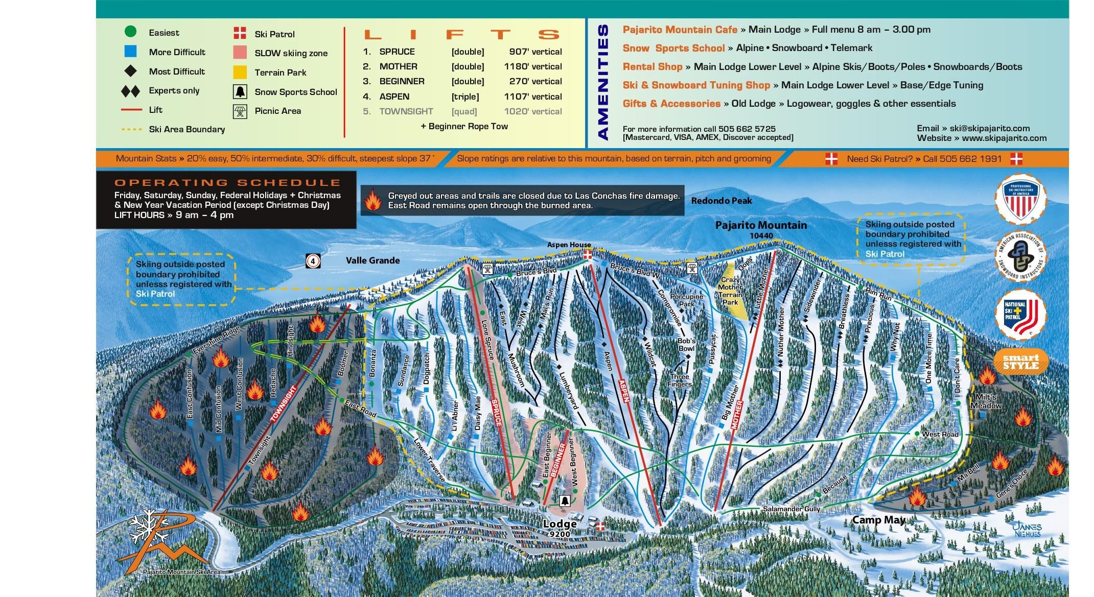 pajarito mountain skiing, los alamos, nm | land of enchantment