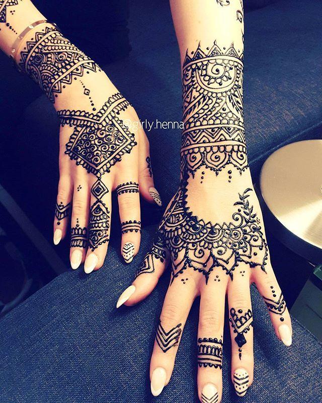 rihanna inspired design girlyhenna henna
