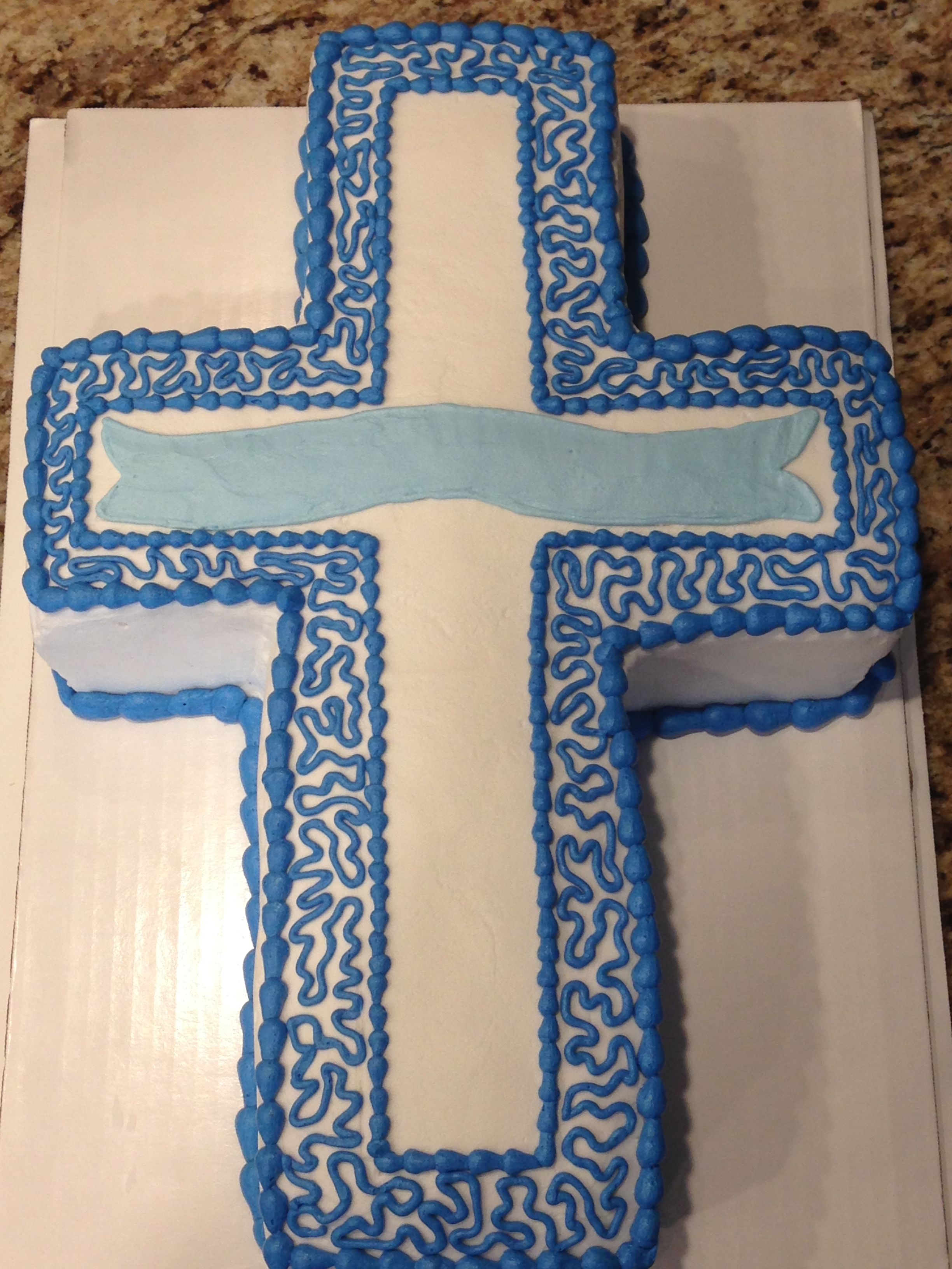 Marble flavored Cross cake Decor, Home decor