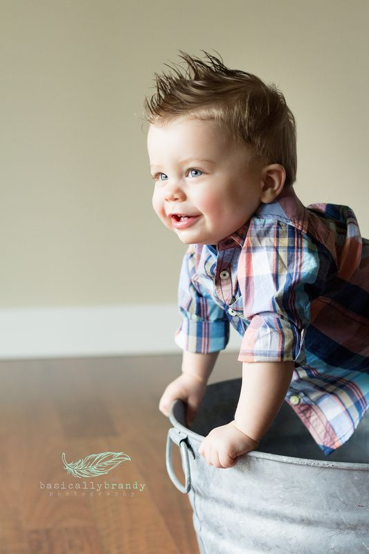 One Year Old Baby Boy Smash Cake Baby Boy Portrait Idea