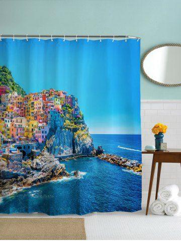 Mediterranean Fishing Villages Print Shower Curtain