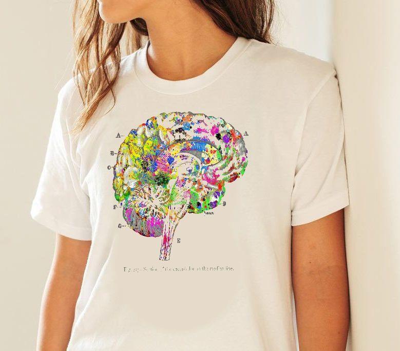 Doctor Gift Anatomy Brain T Shirt Woman S Medical Art Tshirt