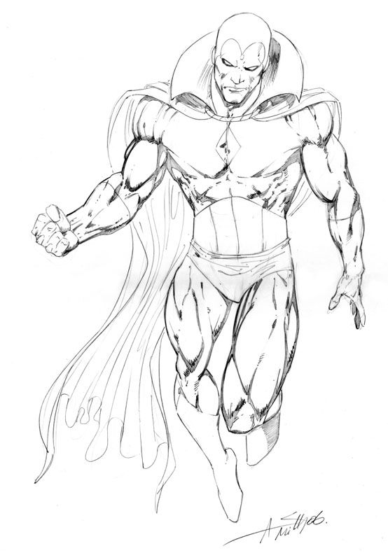 Vision - Sketch In Darrin Wiltshireu0026#39;s Andy Smith Comic Art Gallery Room | Comic Art | Pinterest ...