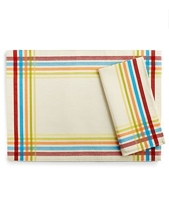 Fiesta Table Linens, Classic Plaid Collection - Fiesta Table Linens - Dining & Entertaining - Macy's