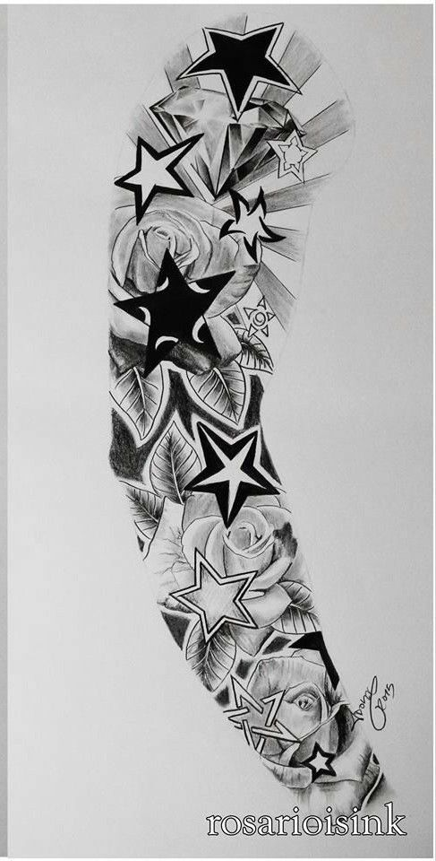 Pin By Sergio Ginkel On Tattoo Star Sleeve Tattoo Star Tattoos Cool Forearm Tattoos