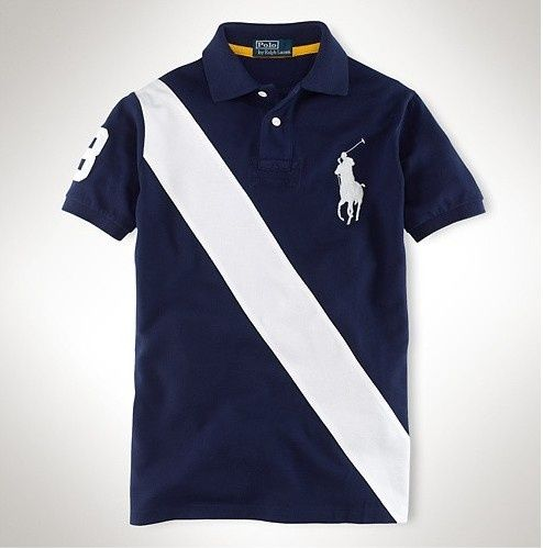 Ralph Lauren Big Pony White Diagonal Stripe Navy Breathable Polo ,the  greateat discount, off.