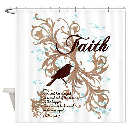 shower curtain faith prayer dove