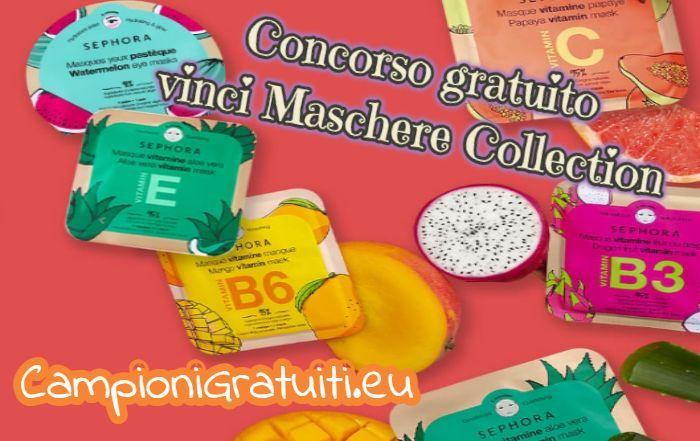 Concorso Sephora vinci fornitura Annuale Maschere Collection