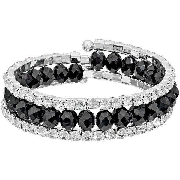 Franco Gia Multirow Coil Bracelet ($14) ❤ liked on Polyvore featuring jewelry, bracelets, accessories, black, imitation jewelry, fake jewelry, imitation jewellery and artificial jewellery