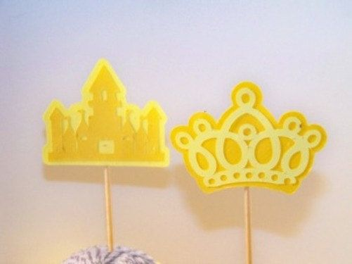 Disney Inspired Princess Belle Colors Crown and Castle Cupcake
