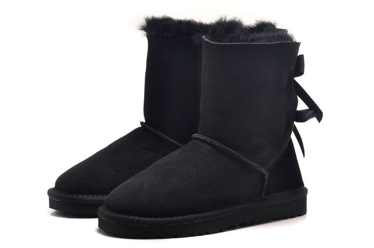 Kid's UGG Bailey Bow 3280Y Black