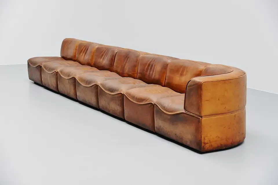 De Sede Ds15 Modular Sofa Natural Leather Switzerland 1970 In 2020 Modular Sofa Brown Leather Sofa Sofa Design