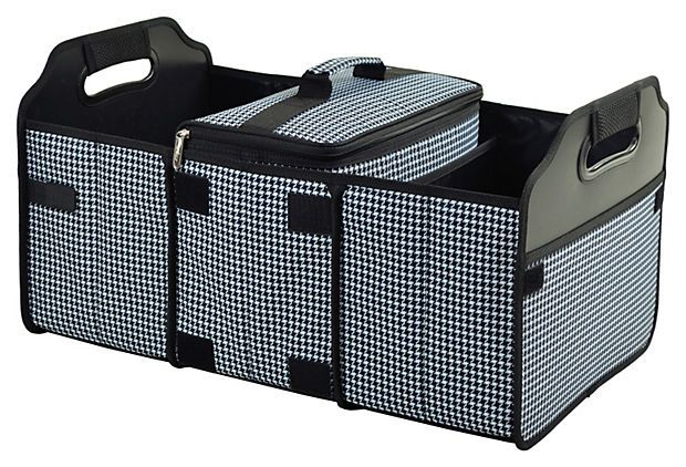 Trunk Organizer And Cooler Black White Trunk Organization