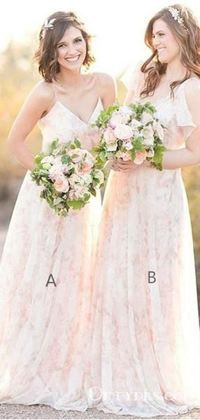 A-Line Spaghetti Straps Long Cheap Pearl Pink Lace Bridesmaid Dresses, TYP1832 A-Line Spaghetti Straps Long Cheap Pearl Pink Lace Bridesmaid Dresses, TYP1832 #lacebridesmaids