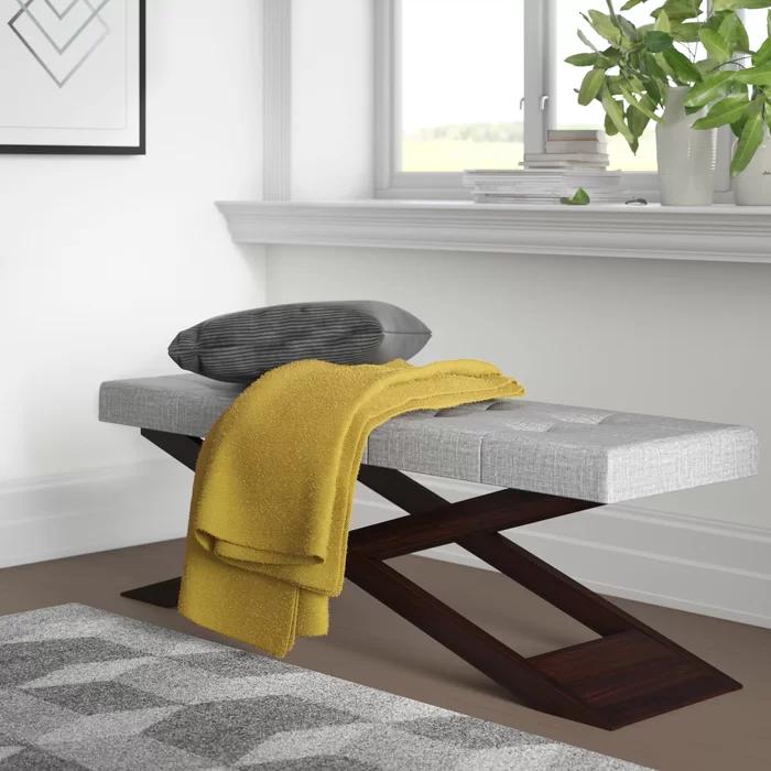 Lani Wood Bench Wood Storage Bench Upholstered Storage Bench Upholstered Bench