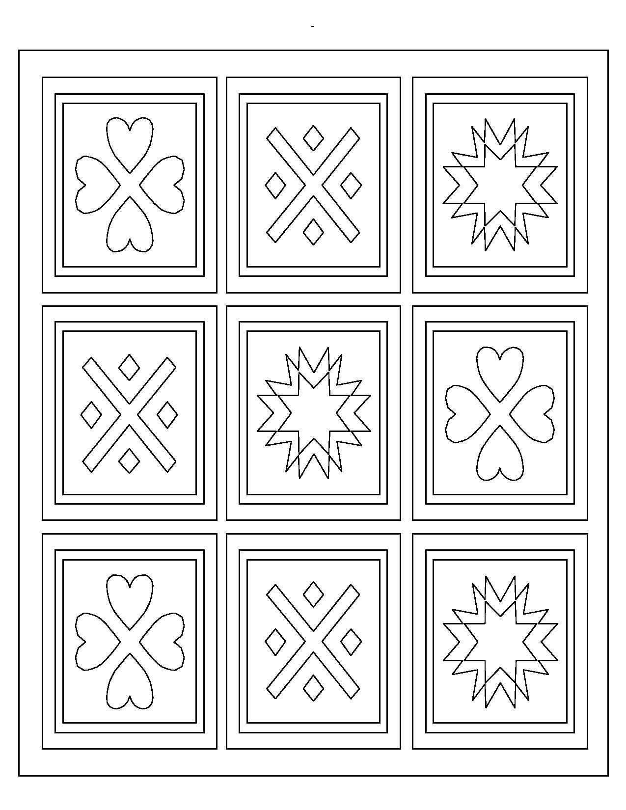 Quilt Coloring Pages Preschool