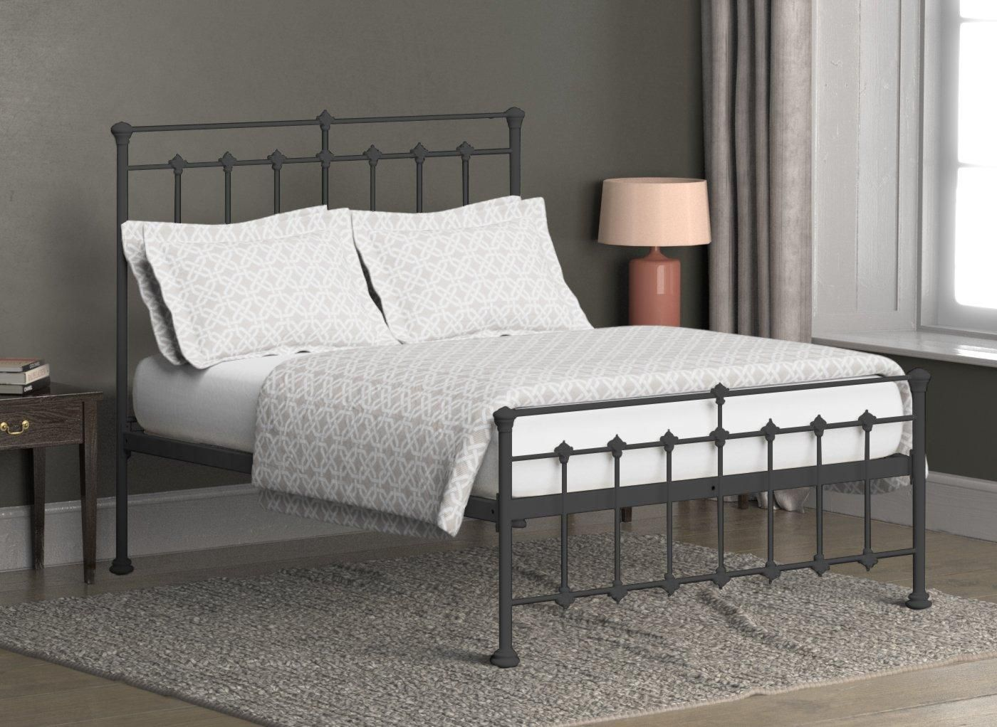 Edwardian Metal Bed Frame Bed frame, Cast iron bed frame