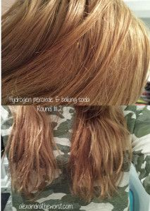 Peroxide And Baking Soda In Hair Before And After Natural Diy