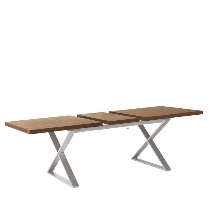Crossed leg walnut extending dining table dwell dining crossed leg walnut extending dining table dwell watchthetrailerfo