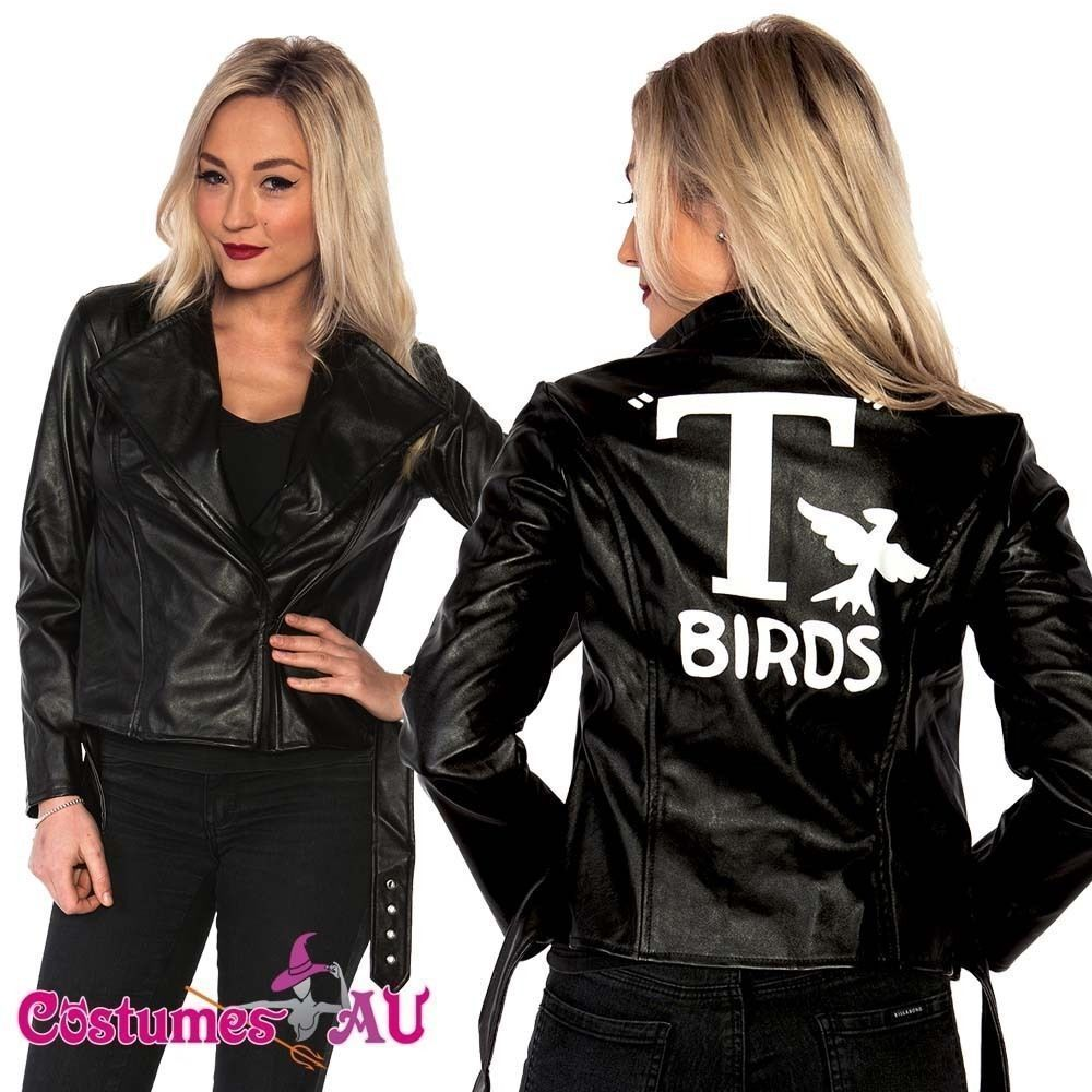 6df70576384 Ladies Grease Sandy TBirds Black Jacket 1950s 50s Costume T-Birds Frenchie  Rizzo