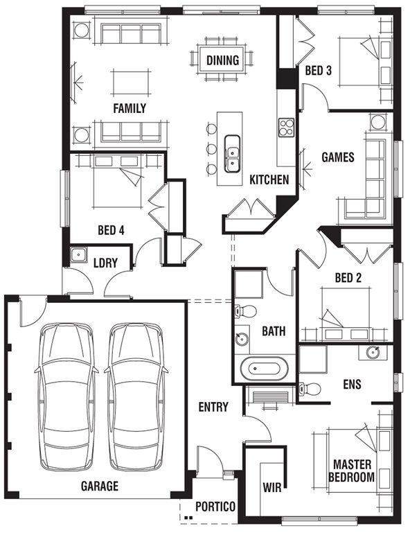 53 x 41 house design bermuda porter davis homes · small house planshouse floor