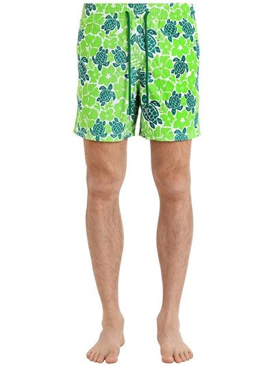 b60b9c79d32ee VILEBREQUIN MOOREA HAWAIIAN TURTLES SWIM SHORTS, GREEN. #vilebrequin #cloth  #swimwear
